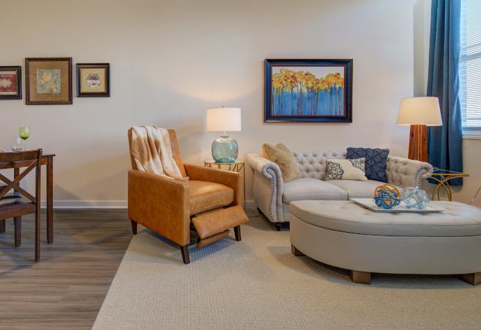 an Amazing Grace Senior Living living room