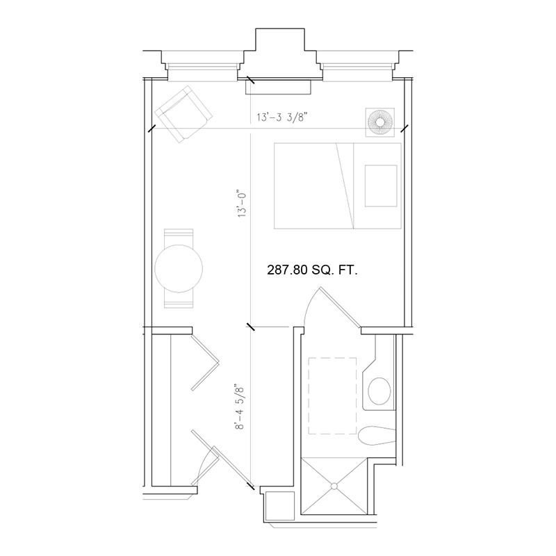 Amazing Grace Senior Living Floor Plan Studio B
