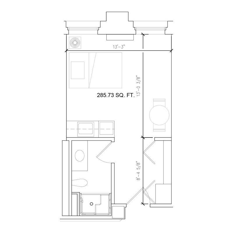 Amazing Grace Senior Living Floor Plan Studio A